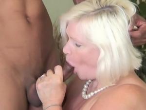 chubby granny sucks black cock