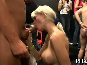 Cope dancing disrobe and dripping puss