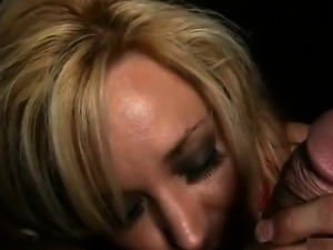 Sexy blonde woman gets horny rubbing