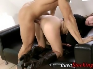 British milf gets fucked and cummed on in hi definition