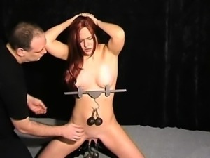 Extreme pussy torture and nipple clamps