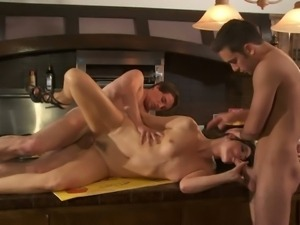 Cake baking mom India Summers gets a 3some fuck.