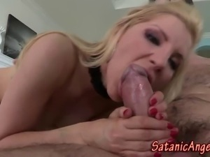 Rimmed and fucked slut facialized