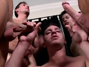 Orgy loving hunks squirting their seed