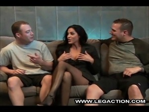 Veronica Rayne is caught between two rock hard cocks and that's just where...
