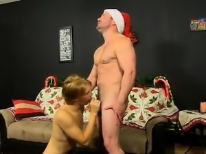 Nude men Patrick Kennedy catches hunky muscle boy Santa deli