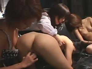 Devilish Asian Mistresses Punishing Hot Chicks