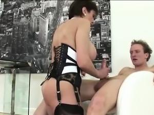 Slutty british milf fucks and sucks