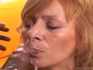 old redhead sucks cock