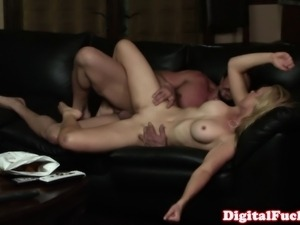 Blonde babe cheats with moms bf