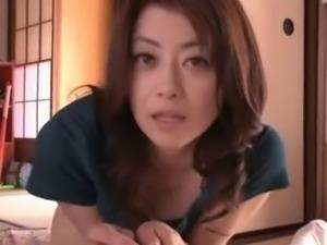 Gorgeous MILF Maki Hojo hot raw POV fucking
