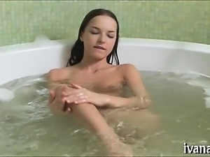 Perverted vagina massage by the pool