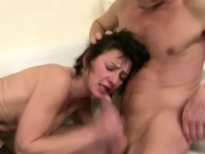 mature whore fucks two