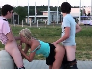 Extreme PUBLIC young teen gangbang sex in the street PART 3