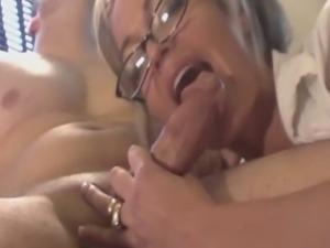 Sexy secretary Mia fucking her boss in the office