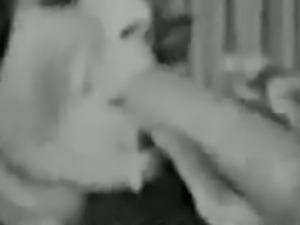 Vintage blowjob scene with cumshot
