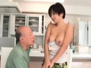 Asian MILF with nice boobies gets kinky