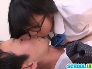 Incredibly hot Japanese student sucking