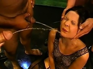 Loads of face pissing for wild angel