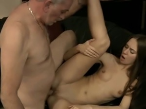 Teen ass fucked by her dad's friend