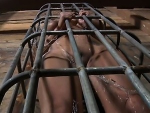 Manacled up playgirl is punished