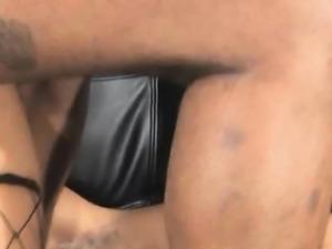 Brutally Rough Black On Black Doggystyle Fucking