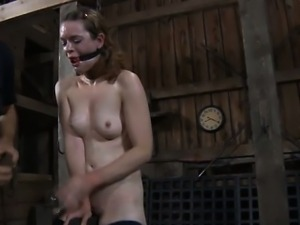 Hung up beauteous hottie is punished