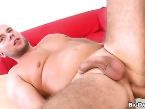 Gorgeously sexy slut has great cock sucking experience and expands it with...