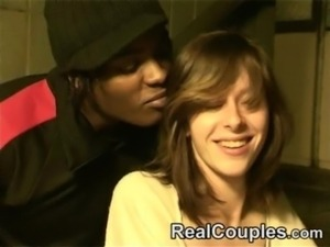 hot couple interracial in stairs free