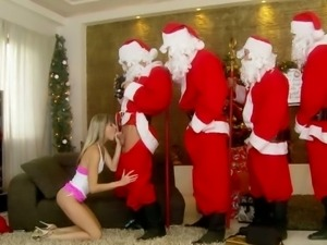 Doris Ivy christmas wish is a gangbang with Santas