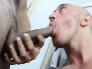 Tattooed muscled hunks sucking dick