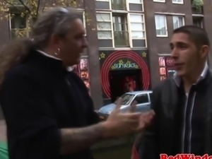 Real dutch prostitute gets cum on pussy