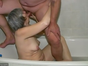 Mature slut gets banged hard by a younger stud