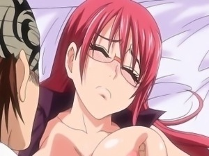 Sexy hentai redhead gets her wet pussy fingered and licked