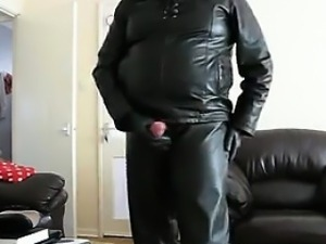 Masturbating In Leather