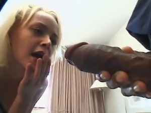 Little blonde vs two bbc