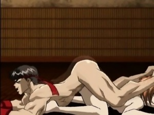 Horny hentai gays fucking up side down