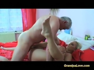 Young blonde got screwed by the dirty old man