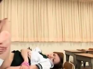 Asian teenie enjoys futanari cock