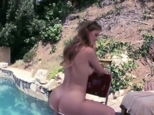 Luscious Karlie Touches Her Jugs,Pussy And Booty