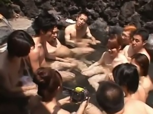 Japanese models are beautiful girls outdoor fun.