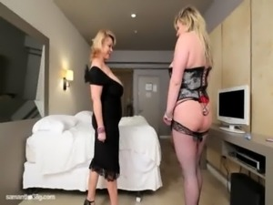 BBW Cougar Dildos Sexy Plump Busty Babe in Hotel Room free