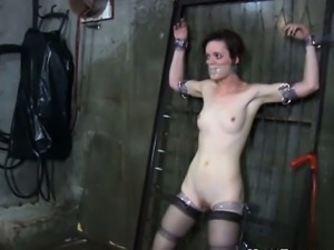 BDSM sub teased by electrosex punishment