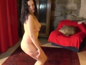 Busty czech girl does amazing striptease for horny guy