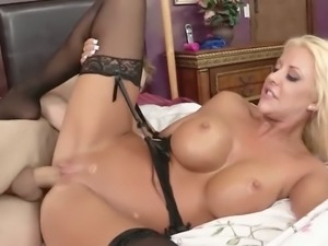 Courtney Taylor fucking two well hung guys