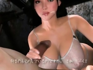 Insatiable animated slut sucking massive dick