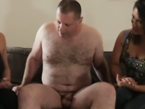Femdom duo struggle with a small cock