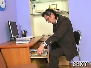 Delightful anal job with teacher