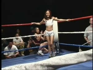 milfs sucking cocks on the boxing ring