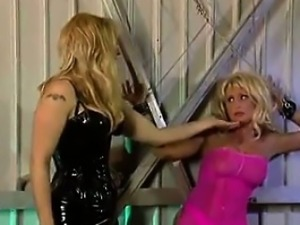 Busty Blonde Slave Getting Abused